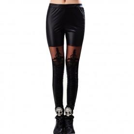 leggings noir avec dentelle